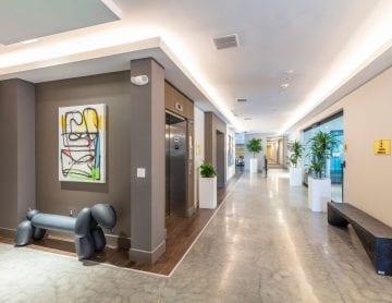 Alta Union House lobby hallway in Framingham, MA