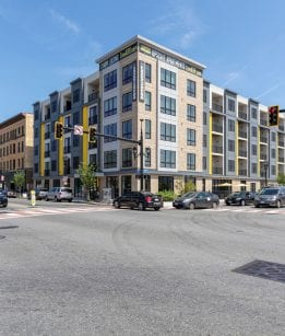Street view of Framingham luxury apartments for rent
