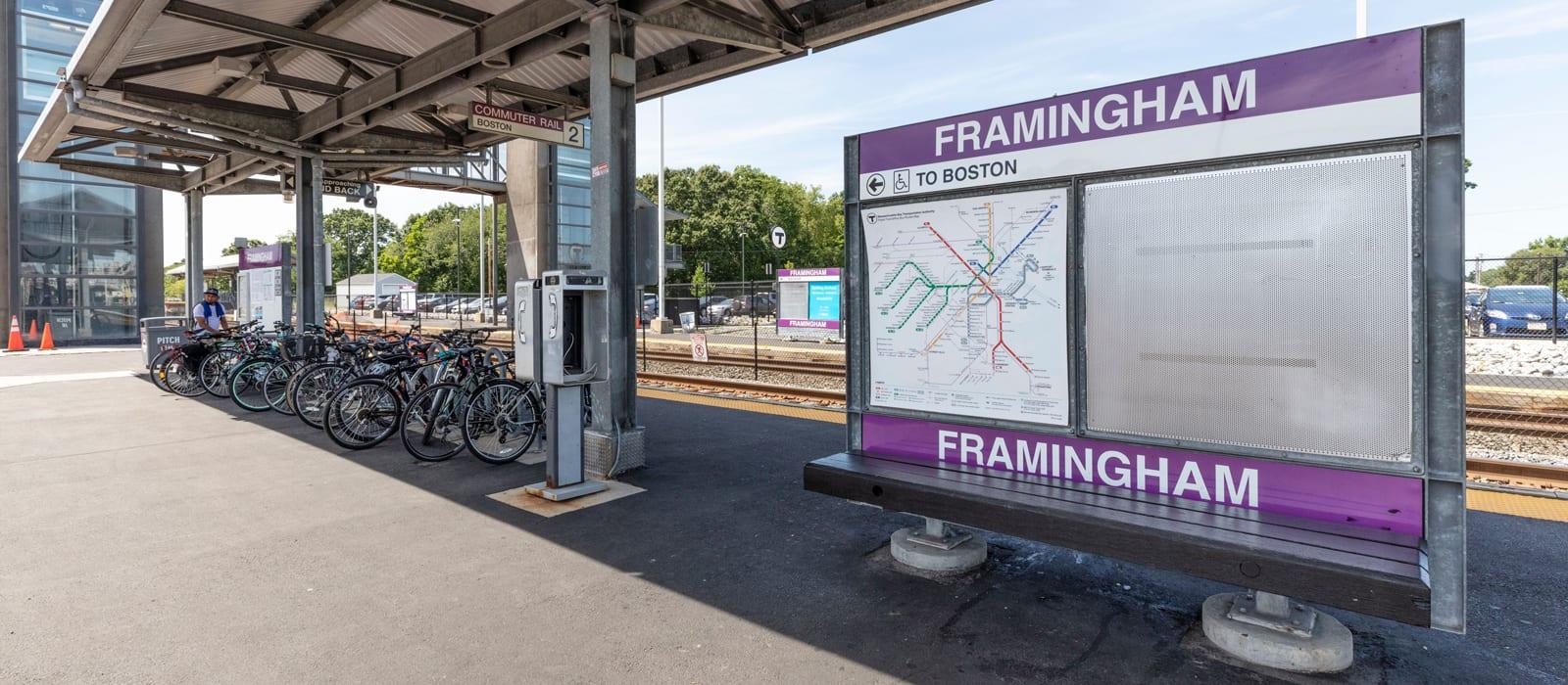 Framingham, MA Train Map